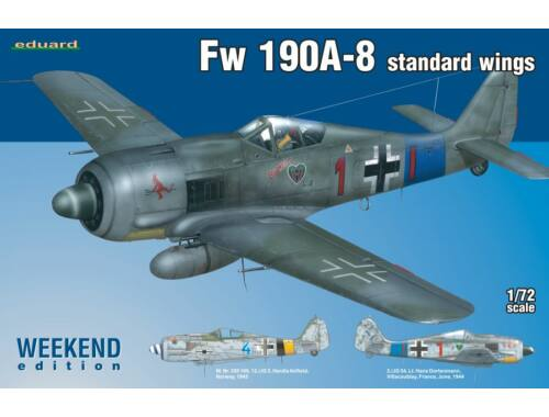 Eduard Fw 190A-8 standard wings WEEKEND edition 1:72 (7435)