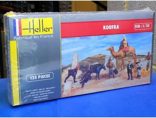 Heller KOUFRA(Figurines Sahariennes Groupe Tabo Tabour Tireurs Senegalais) 1:35 (81101)