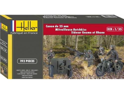 Heller CANON DE 25mm GNOME et RHONE HOTCHKISS 1:35 (81102)