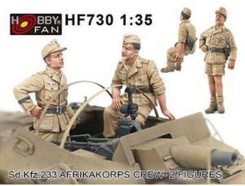 Hobby Fan Sd.kfz 233 Afrikakorps Crew-2 figures 1:35 (HF730)