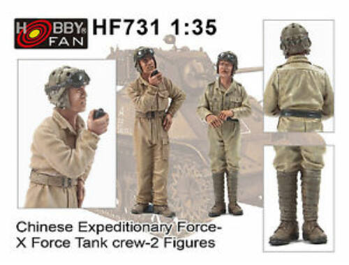 Hobby Fan Chinese Expeditionary Force-XForce Tank Crew-2 Figures 1:35 (HF731)