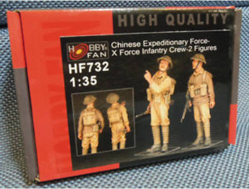Hobby Fan Chinese Expeditionary Force-X Force Infa Infantry Crew-2 Figures 1:35 (HF732)