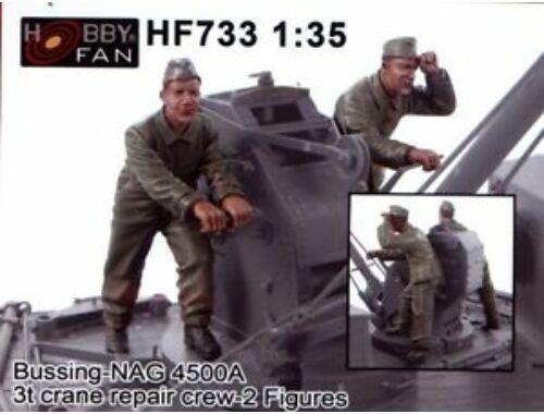 Hobby Fan Bussing-NAG 4500A 3t crane repair crew-2 Figures 1:35 (HF733)