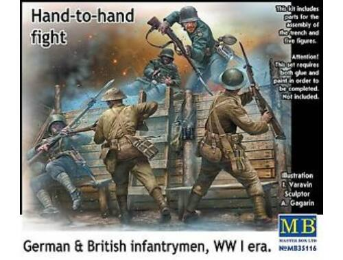 Master Box Hand-to-hand fight,German British infant infantrymen, WWI era 1:35 (35116)