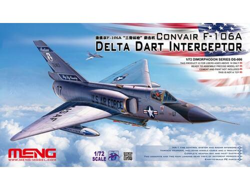 Meng CONVAIR F-106A Delta Dart Interceptor 1:72 (DS-006)