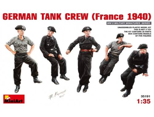 Miniart German Tank Crew (France 1940) 1:35 (35191)