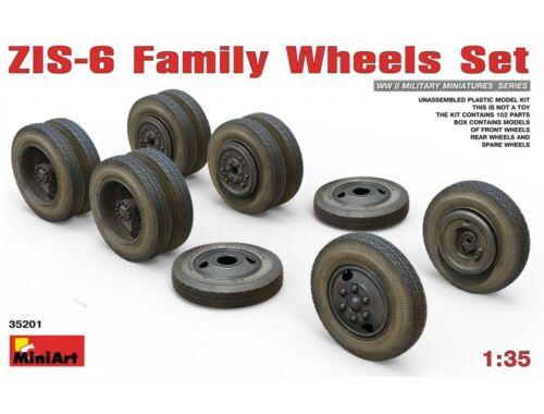 Miniart ZIS-6 Family Wheels Set 1:35 (35201)