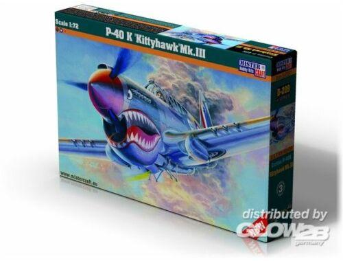 Mistercraft P-40 K Kittyhawk Mk.III 1:72 (D-220)