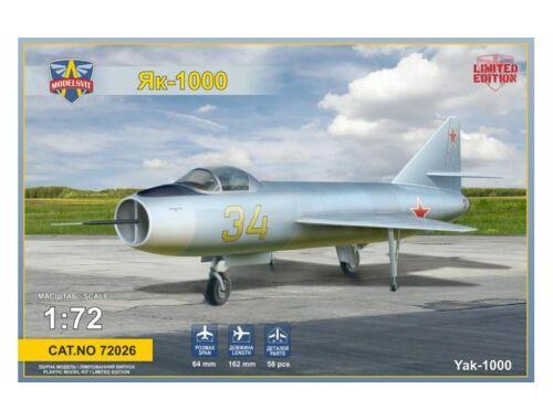Modelsvit Yakovlev Yak-1000 Soviet supersonic demo 1:72 (72026)