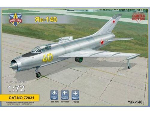 Modelsvit Ykovlev Yak-140 Soviet prototype fighter 1:72 (72031)