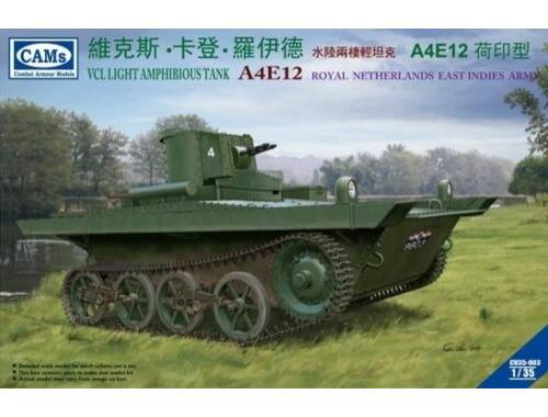 Riich VCL Light Amphibious Tank A4E12 Royal Ne Netherlands East Indies Army 1:35 (CV35003)