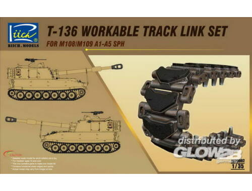 Riich T-136 Workable Track set for M108/M109A1 -A5 SPH 1:35 (RE30002)