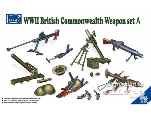 Riich WWII British Commenwealth Weapon Set A 1:35 (RE30010)