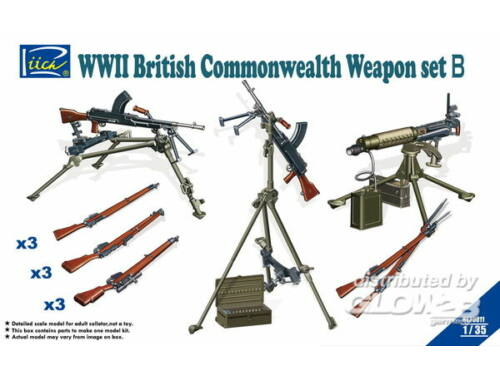 Riich WWII British Commenwealth Weapon Set B 1:35 (RE30011)
