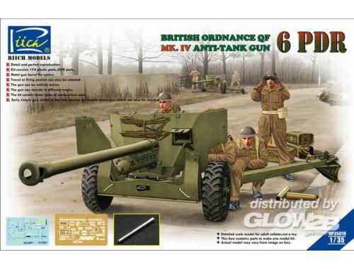 Riich Ordanance QF 6-Pdr.MK.IV Late War Infant Anti-tank Gun(w/Metal gun Barrel 1:35 (RV35018)