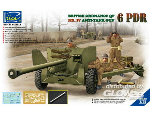 Riich Ordanance QF 6-Pdr.MK.IV Late War Infant Anti-tank Gun(w/Metal gun Barrel 1:35 (RV35018)
