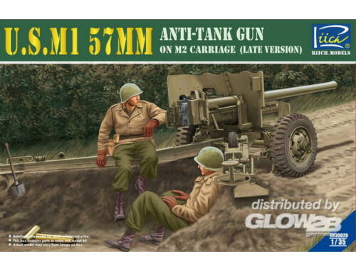 Riich U.S.M1 57mm Anti-tank Gun on M2 carriage Late Version 1:35 (RV35020)