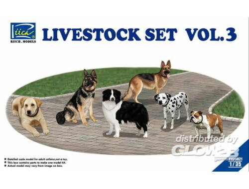 Riich Livestock Set Vol.3 (six dogs) 1:35 (RV35021)