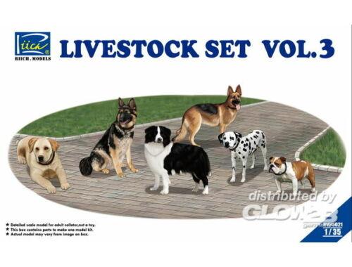 Riich Livestock Set Vol.3 (six dogs) 1:35 (RV35021)