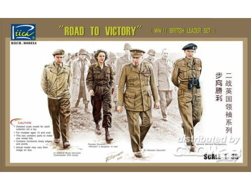 Riich WWII Britis Leader set(ROAD TO VICTORY) 1:35 (RV35023)