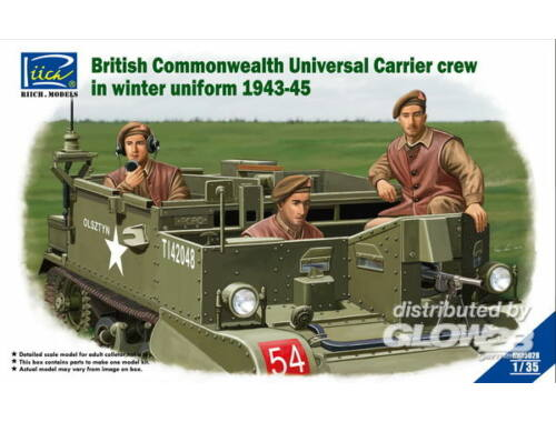 Riich British Commenwealth Universal Carrier crew in winter Uniform 1943-45 1:35 (RV35028)