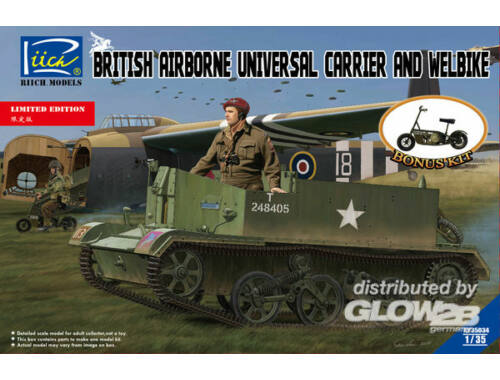 Riich British Airborne Universal CarrierMk.III   Welbike Mk.2(Limited Edition 1:35 (RV35034)