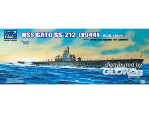 Riich USS Gato SS-212 Fleet Submarine (1944)   OS2U-3 Kingfisher Floatplane 1:200 (RS20002)