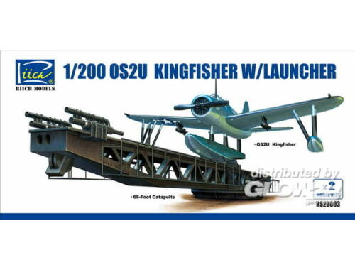 Riich OS2U-3 Kingfisher w/Launcher(ModelKitsX2 1:200 (RS20003)
