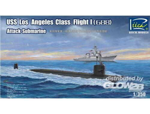 Riich USS Los Angeles Class Flight I(688) Atta Attack Submarine 1:350 (RN28005)