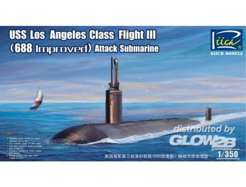 Riich USS Los Angeles Class Flight III(688 imp 1:350 (RN28007)