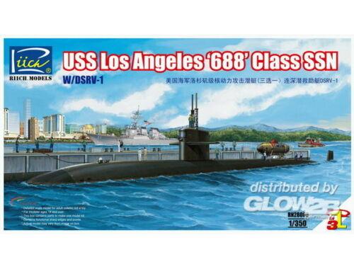 Riich USS Los Angeles 688 Class SSN w/DSRV-1 1:350 (RN28008)