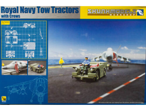 Skunkmodel Royal Navy Tow Tractors with Crews 1:48 (48017)