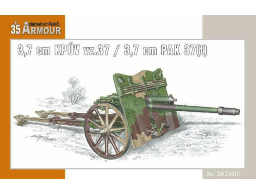 Special Hobby Kanon 3,7cm KPUV vz.37 (3,7cm PAK 37(t) 1:35 (35001)