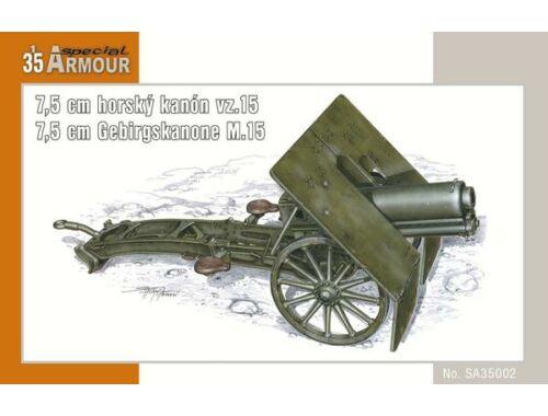 Special Hobby 7,5cm horsky kanon vz.15(7,5cm Gebirskan M.15 / 7,5 cm) 1:35 (35002)