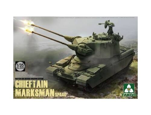 Takom British Air-defense Weapon System Chieft Chieftain Marksman SPAAG 1:35 (2039)