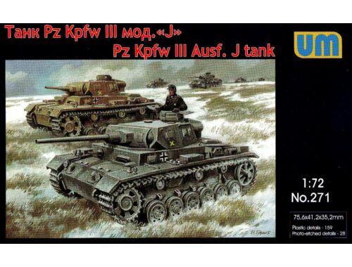 Unimodel Pz.Kpfw III Ausf.J.German tank 1:72 (271)