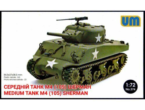 Unimodel M4(105) medium tank 1:72 (374)