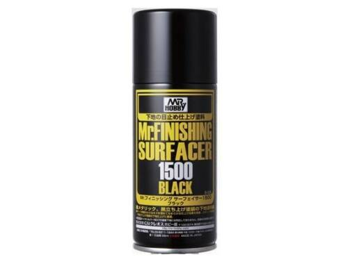 Mr.Hobby Mr.Finishing Surfacer Spray Acer 1500 Black B-526