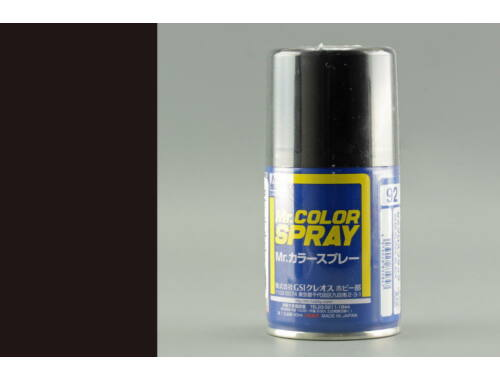 Mr.Hobby Mr.Color Spray S-092 Semi Gloss Black