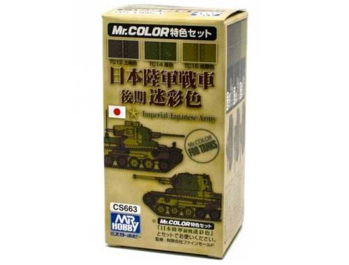 Mr.Hobby Japanese Army Tank Color Set late version CS-663