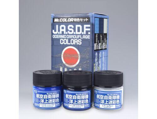 Mr.Hobby J.A.S.D.F. Oceanic Camouflage Color Set CS-665