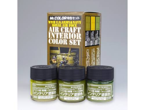 Mr.Hobby Interior Color Set for Aircraft (WW II) CS-681