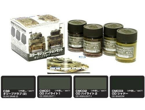 Mr.Hobby Color Modulation Set Olive Drab Ver. CS-581