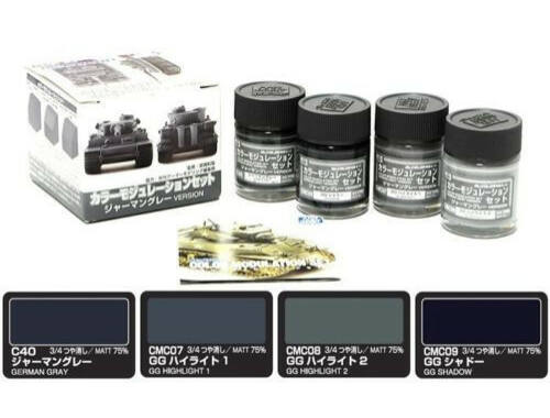 Mr.Hobby Color Modulation Set German Grey Ver. CS-583