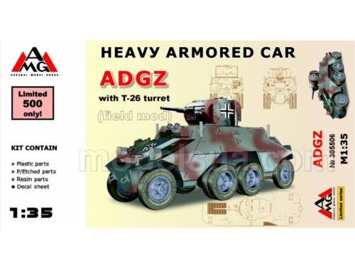 AMG Heavy Armored Car ADGZ with T-26 turret( field mod) 1:35 (AMG35506)