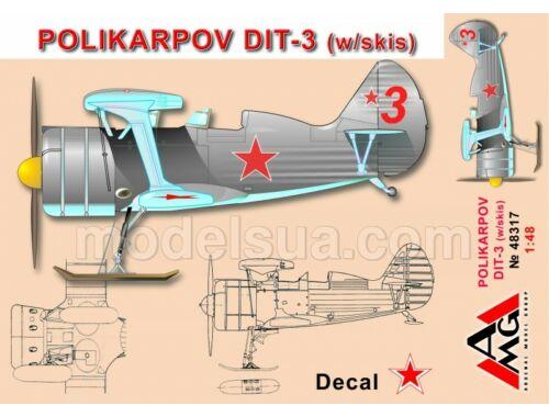 AMG Polikarpov DIT-3 (w/skis) 1:48 (48317)