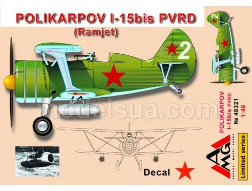 AMG Polikarpov I-15 bis PVRD (Ramjet) 1:48 (AMG48321)