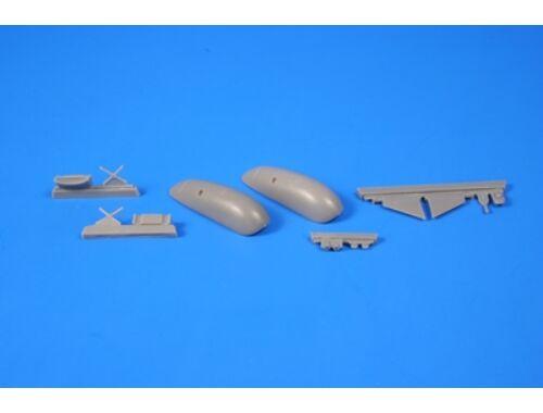 "CMK Blenheim Mk. ""Finnish AF 1.serie"" 1/72 Fixed type Ski Undercarriage for Airfix 1:72 (7344)"