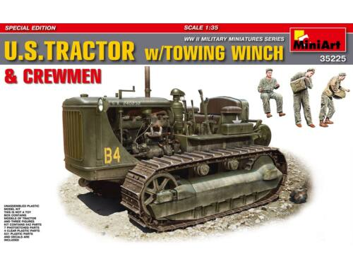 Miniart U.S.Tractor w/Towing Winch Crewmen Sp. Edition 1:35 (35225)