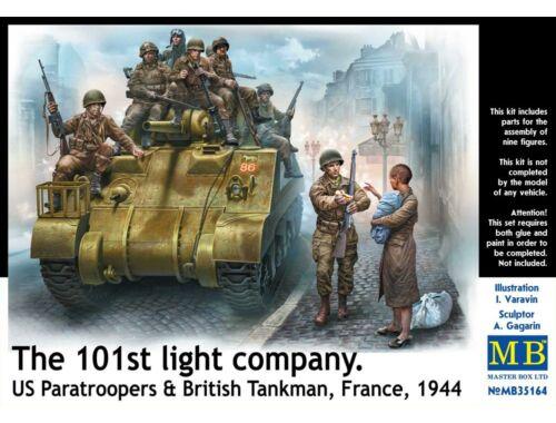 Master Box 101th light company.US paratroopers and British tankmen 1:35 (35164)